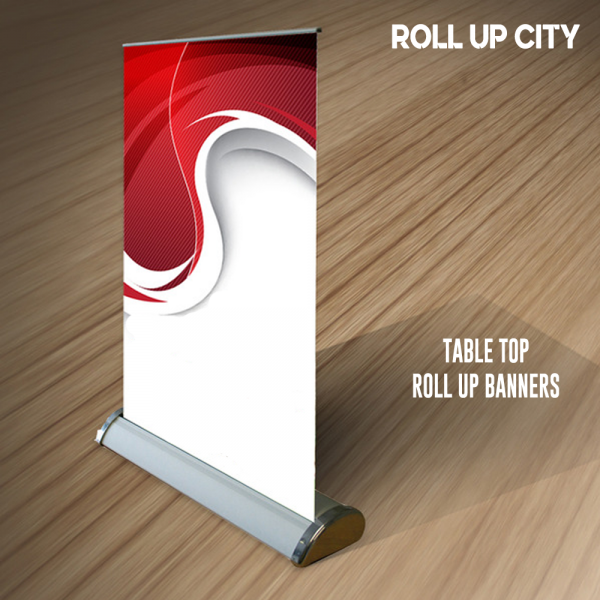 cheap table top retractable banner stands