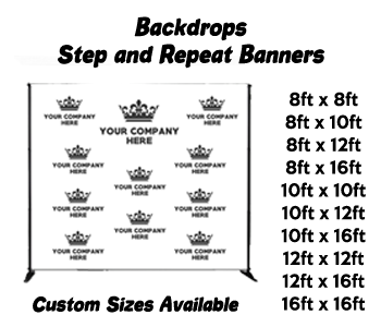 backdrop banner sizes