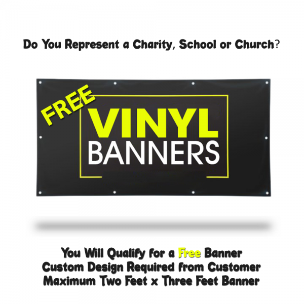 free banner printing for charities